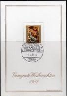 Weihnachtfest 1982 BRD 1161 O 6€ Mit SST Hl.Drei Könige Petri-Altar Minden Von Meister Bertram Christmas Card Of Germany - Heilige Plaatsen