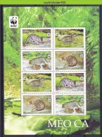 Nbx456MS8b WWF FAUNA WILDE KAT ROOFKAT VISKAT FISHING CAT WILD CAT FISCHKATZE FELINS VIETNAM 2010 PF/MNH - W.W.F.