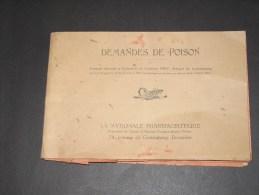 LA NATIONALE PHARMACEUTIQUE- DEMANDES DE POISON - Formulaire Modèle 1911-49 Demandes De 1936à1978- - Documents Historiques