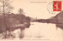 CPA 88 CELLES SUR PLAINE COUCHER DE SOLEIL SUR LA CANAL (cliché Pas Courant - Francia