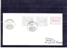 Suisse - Lettre De 1982 - EMA - Affranchissement Mécanique - Spécimen - Affranchissement Timbres Automates - Postage Meters