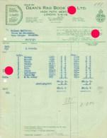 LONDON 1937 DEAN'S HYGIENIC DOLLS & TOYS DEAN'S RAG BOOK Co Ltd  / Jouets - Royaume-Uni