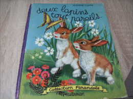"""Marcel Marlier : Jeanne Cappe Deux Lapins Tout Pareils : Edition Originale Farandole Avec 4ème Plat """"a La Farandole"""" - Livres, BD, Revues"""