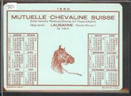 FORMAT 10x15 - LAUSANNE - MUTUELLE CHEVALINE SUISSE - CALENDRIER 1950 - AU DOS: BUVARD - TB - Buvards, Protège-cahiers Illustrés