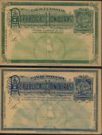Honduras 2 Cent & 3 Cent Fine Unused Tarjeta Postal Stationery Postcards (2) - Honduras