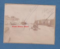 Photo ancienne d�but 1900 - SAINT VALERY en CAUX - Beau bateau am�ricain au port - TOP RARE