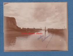 Photo ancienne d�but 1900 - SAINT VALERY en CAUX - Bateau de p�che quittant le port - TOP RARE