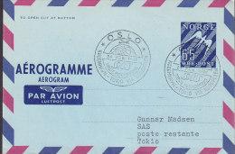 Norway Airmail Aerogramme SAS OSLO-KØBENHAVN-TOKIO Via North Pole 1. Flight Cover 1957 !! - Briefe U. Dokumente