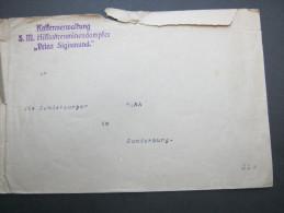 1918, Ca., Hilfstsreuminendampfer Prinz Sigismund , Brief , Mängel - Brieven En Documenten