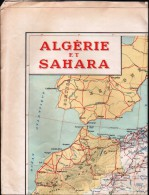 Carte Gographique Epoque Coloniale-ALGERIE ET SAHARA-1960 - Geographical Maps