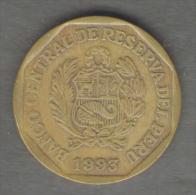 PERU 20 CENTIMOS 1993 - Perú