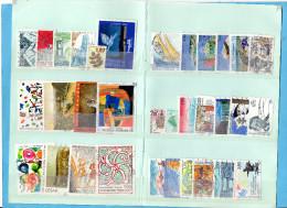 FRANCE OBLITERES-LOT De 64 TIMBRES-différents -bel état-forte Cote -années 1990à 2000 - Stamps