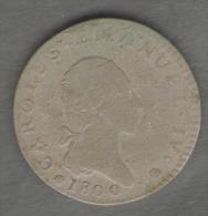 SAVOIA - CARLO EMANUELE IV - 7,6 SOLDI (1800 / ZECCA Di TORINO) NON COMUNE (MISTURA) - Monete Regionali