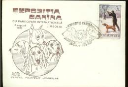 "Cover, Romania, Philatelic Exh. ""Dog Breeds"", Jimbolia 1987 - Dogs"