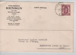 TP 479 S/CP Des Ets Renson à Bomerée C.Charleroi En 1940 PR1212 - Belgien
