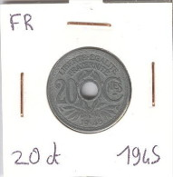 20 Centimes Zinc Lindauer 1945 - Frankrijk