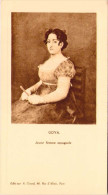 Menu - GOYA - Jeune Femme Espagnole - Menu