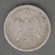 URUGUAY 10 CENTESIMOS 1877 AG SILVER - Uruguay