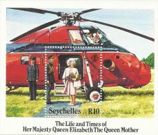 Seychelles 1985 Queen Mother 85th Birthday Souvenir Sheet MNH - Seychelles (1976-...)