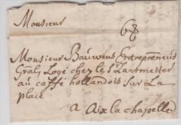 Lettre De LA HAYE 1747 Pour AIX LA CHAPELLE - Taxée 6 + Texte A Voir - 1714-1794 (Austrian Netherlands)