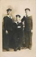 CHERBOURG - MILITARIA - Carte Photo Portrait Militaires De La  MARINE NATIONALE écrite En 1912 - Cherbourg