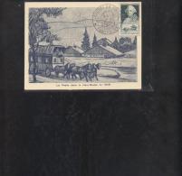 Carte Locale Journée Du Timbre 1949 Pontarlier - Brieven En Documenten