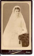 Photo Format Cdv Communiante Robe - A Laroche Vannes - Alte (vor 1900)