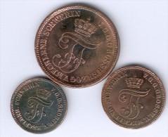 Mecklenburg-Schwerin, 1,2,5 Pfennige 1872, ss/ss-