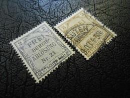 D.R.Dienstmarken Mi 1+2 - 2+3Pf - 1903/05 - Graublau/d'ockerbraun - Gebraucht