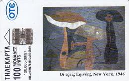 Telefonkarte Griechenland  Chip OTE   Nr.436  1997   3131   Aufl.  100.000 St. Geb. Kartennummer   400373 - Grèce