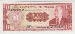 Paraguay 10 Guaranies 1952 Pick 196 UNC - Paraguay