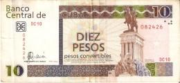 BILLETE DE CUBA DE 10 PESOS CONVERTIBLES DEL A�O 2006  (BANKNOTE)