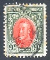 Southern Rhodesia 1931. 9d Vermilion And Olive-green (p12). SG 21b. - Südrhodesien (...-1964)