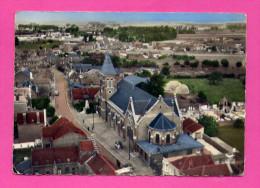 EN AVION AU DESSUS DE ....BAUVIN  (NORD) L' EGLISE Et Le MONUMENT - France