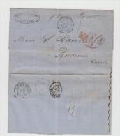 LETTRE USA - NEW YORK -> BORDEAUX 1859 Par OCEAN QUEEN  A Voir - Poststempel