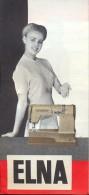 Dépliant Brochure - Pub Reclame Naaimachine ELNA - Sovemac Brussel - Advertising