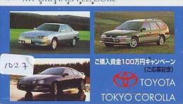 Télécarte JAPON * TOYOTA (1027) Phonecard JAPAN * VOITURE * Auto CAR * TELEFONKARTE * - Auto's