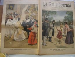 1900 LE PETIT JOURNAL 502 Shah Perse Contrexeville communiante brulee vive pavillon Perou