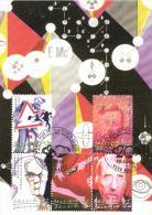 Belgium 2001 Mi. 3074 3079-82 MC CM Maximum Card, 20th C., Delcroly Lévi-Strauss Teilhard De Chardin  Weber - Cartes-maximum (CM)