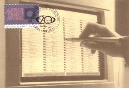 Belgium 2002 Mi. 3167 MC CM Maximum Card, 20th C. Society, Universal Suffrage, Illustr. Voting Screen - Telecom