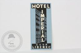 Hotel Imperial CSSR Liberec/ Blue- Czechoslovakia - Original Vintage Hotel Luggage Label - Sticker - Hotel Labels