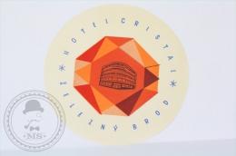 Hotel Cristal Zelezny Brod - Czechoslovakia - Original Vintage Hotel Luggage Label - Sticker - Etiquetas De Hotel