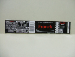 """Etiquette Soda COCA COLA ZERO """"FRANCK""""  500 Ml - Autres"""