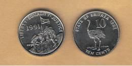 ERITREA - 10 Cents 1997 SC  KM45 - Eritrea