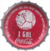 "COLOMBIA-"" COCA COLA - 1 GOL   -  BOTTLE CROWN CAP / KRONKORKEN /TAPPI-USED"