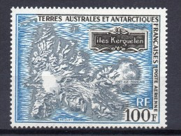 1969 FSAT TAAF French Antarctica - Mapa,karte, Kerguelen Archipel  Mi 53, Yv.PA 20 Cote 125 E MNH - Geografia