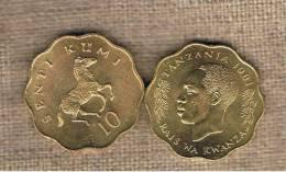 TANZANIA -  10 Senti 1981  KM11 - Zebra Running - Animal Coin - Tanzanía