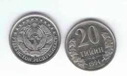 UZBEKISTAN -   20 Tiyin  1994  KM5 - Uzbenisktán