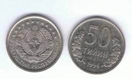 UZBEKISTAN -   50 Tiyin  1994  KM6 - Uzbenisktán