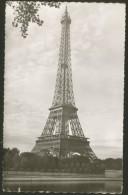 Paris France La Tour Eiffel CACHET VIGNETTE VINTAGE POSTCARD 1953 - Tour Eiffel